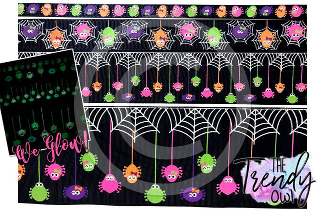 "3"" Glow In The Dark Spiders!! - 5yd Roll"