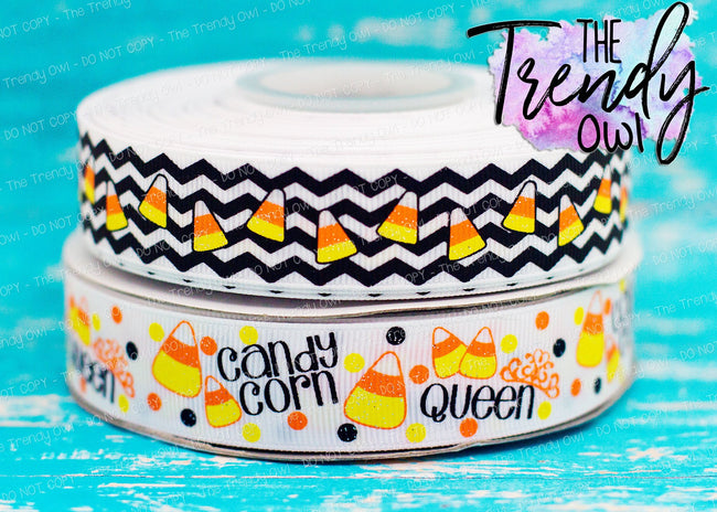 "7/8"" Candy Corn Queen - Halloween Inspired - 3yd cuts"