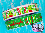 "7/8"" Merry & Bright - Rudolph Is My Bestie - Christmas Inspired - 3yd Cuts"