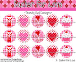 "Sucker For Love Valentine's Day - 1"" BOTTLE CAP IMAGES - INSTANT DOWNLOAD"