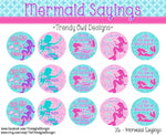 "Mermaid Sayings - 1"" BOTTLE CAP IMAGES - INSTANT DOWNLOAD"