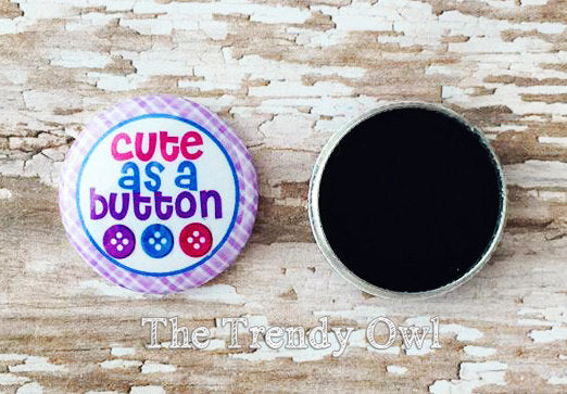 "Flat Back Buttons M2M  ""Cute & Cozy"" Winter Collections - 5pc"