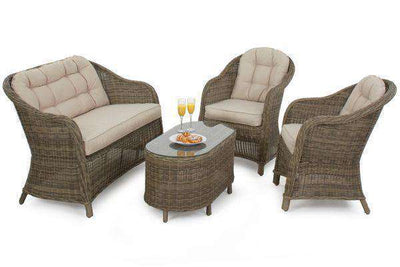 Fabulous Maze Rattan Winchester Rounded High Back Sofa Set Lamtechconsult Wood Chair Design Ideas Lamtechconsultcom