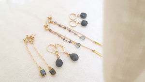 Collection Grey's, Ô PLUM Labradorite et Plaqué Or