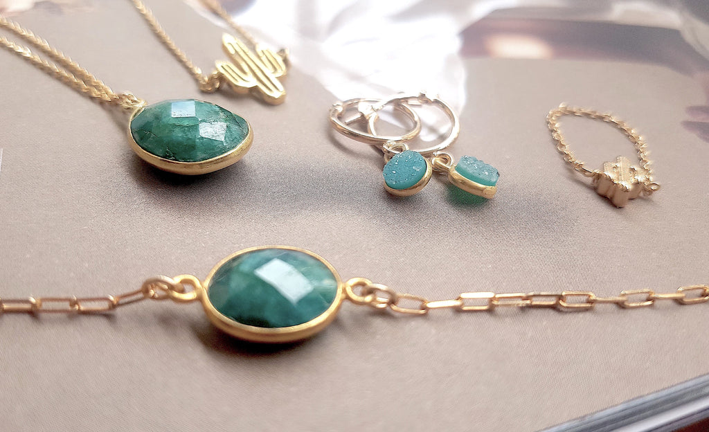 Collection Wild Chrysoprase - Ô PLUM bijoux légers