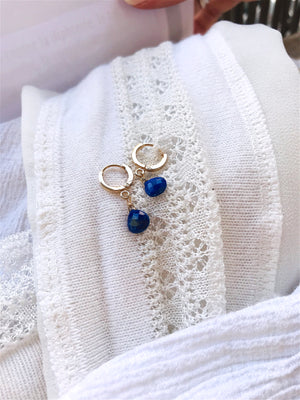 Boucles Mini Drops Lapis