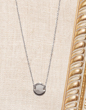 Collier Pastille Bella Donna, Argent 925, Collection Ô plum