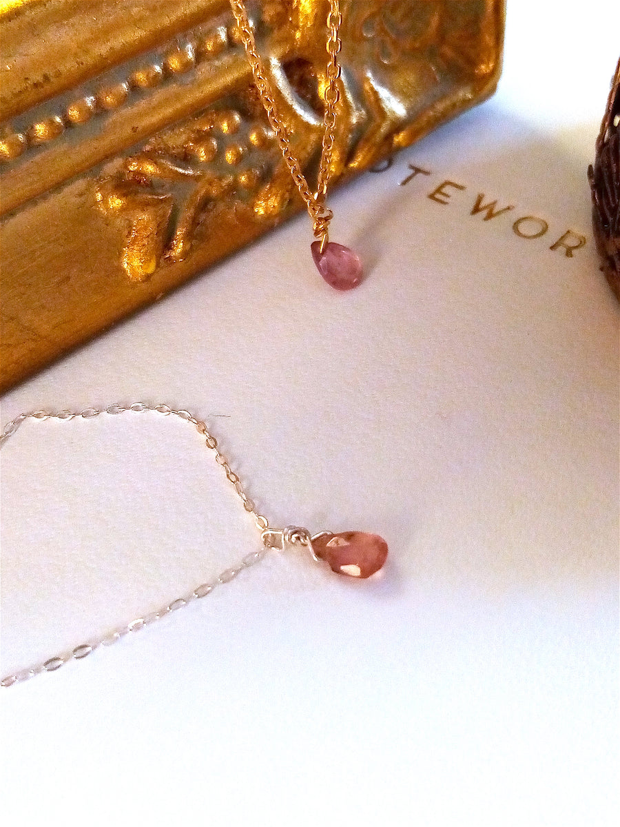 Collier Lila Tourmaline Rose