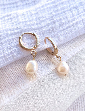 Boucles Mini Drops Perle