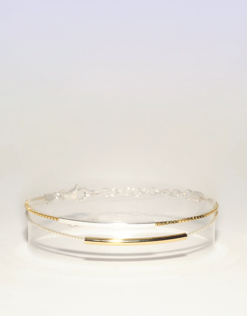 Bracelet CLARA Argent 925 / Plaqué Or Collection Beacon Hill Ô plum