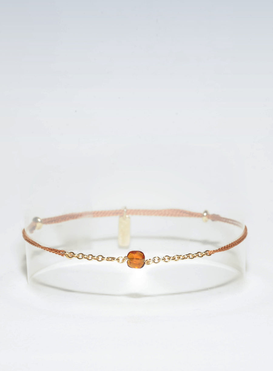 Bracelet Cordon Citrine Whisky