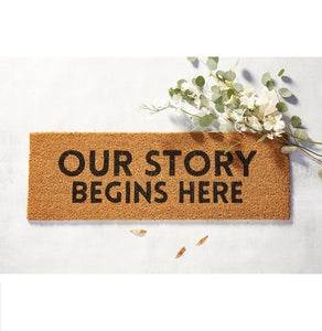 Door Mat - Our Story Begins Here
