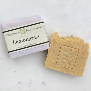 Olive Branch Natural Soap Company - Lemongrass scrub artisan soap bar