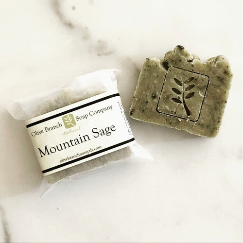 Olive Branch Natural Soap Company - Mountain sage artisan soap bar