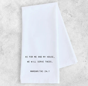 Cotton Tea Towel - Margaritas 24:7
