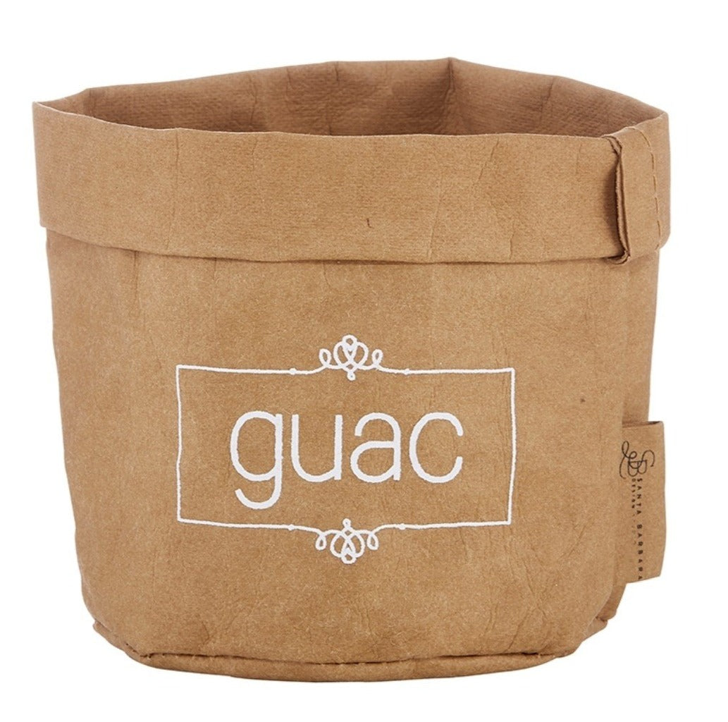 Washable paper guac holder and ceramic dish set