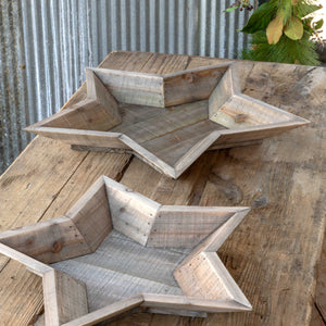 Beveled Wooden Star Bowls