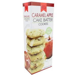 Fall Cake Batter Cookies - Caramel Apple