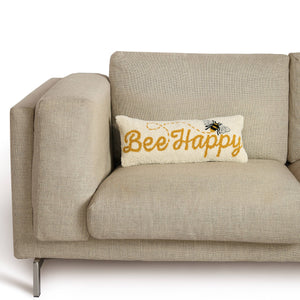 Bee Happy Lumbar Accent Pillow