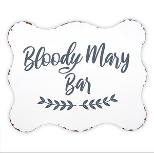 Metal Sign - Bloody Mary Bar