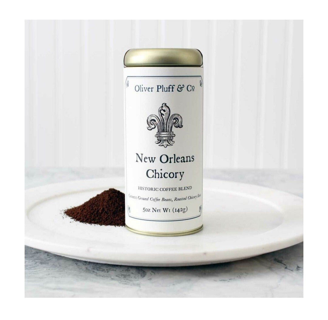 New Orleans Chicory Ground Coffee - Signature Coffee Tin by Oliver Pluff & Co