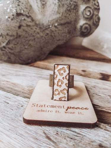 Statement Peace Cheetah Ring