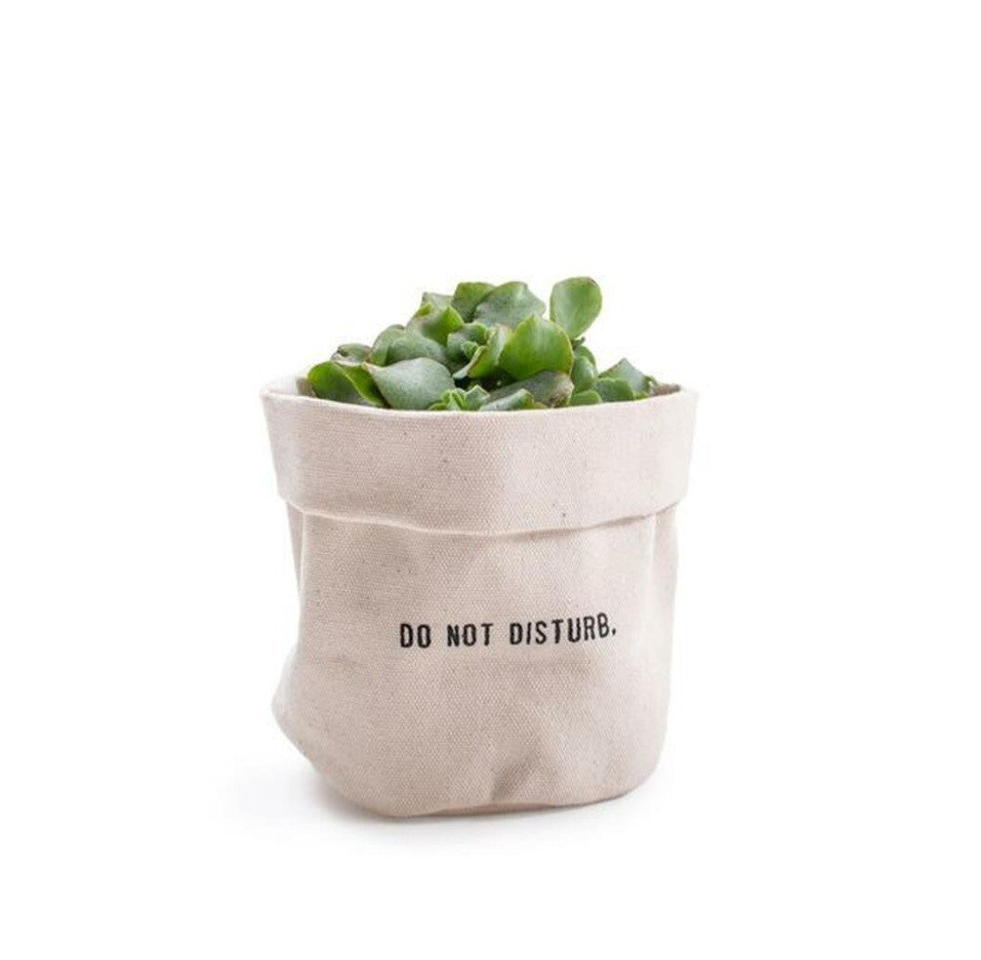 Canvas planter - Do Not Disturb