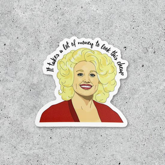 Dolly Parton art sticker