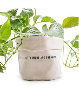 Canvas planter - Tiny Flowers Are Dreaming