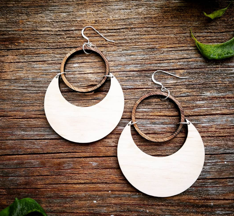 Statement Peace Super Moon Eclipse Earrings