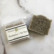 Load image into Gallery viewer, Olive Branch Natural Soap Company - Eucalyptus + tea tree artisan soap bar