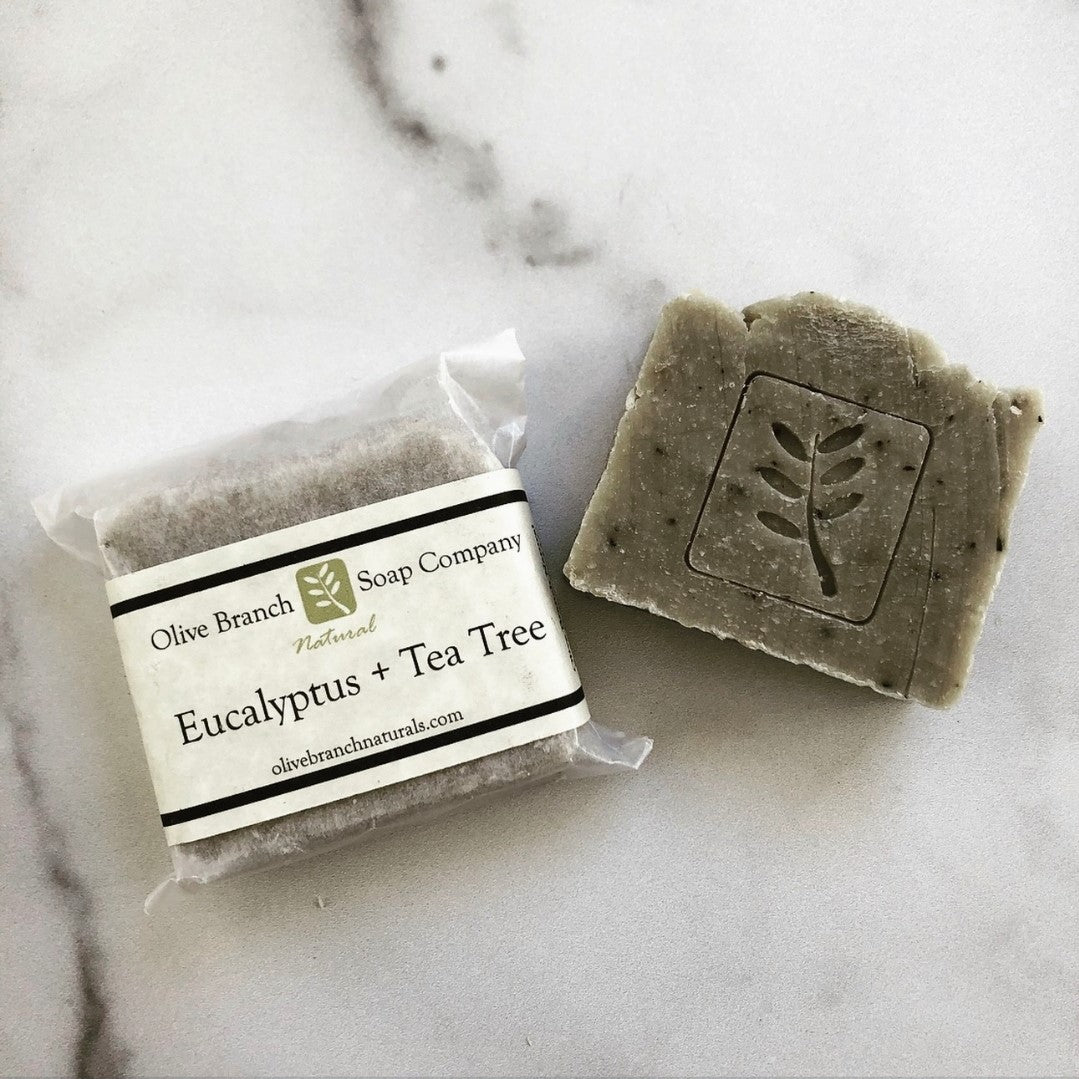 Olive Branch Natural Soap Company - Eucalyptus + tea tree artisan soap bar