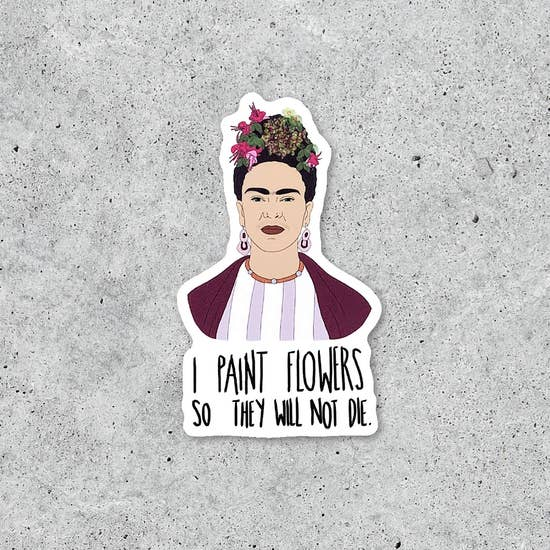 Frida art sticker