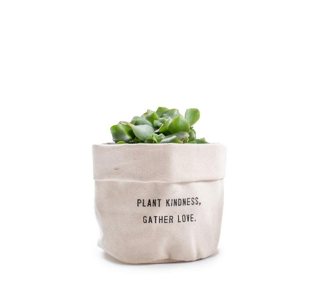 Canvas planter - Plant Kindness Gather Love