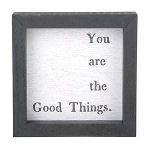 Petite Framed Word Board - You are the good things