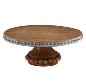 Wooden cake stand / pedastal - large