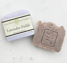Load image into Gallery viewer, Olive Branch Natural Soap Company - Lavender fields artisan soap bar
