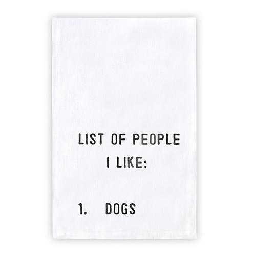 Thirsty Boy Tea Towel - List of People I Like