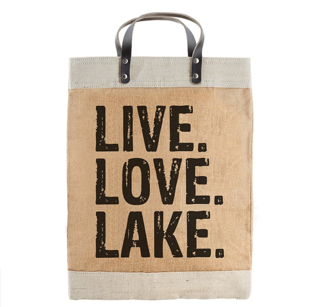 Large Market Tote - Live. Love. Lake.