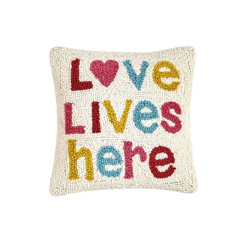 Love Lives Here Accent Pillow