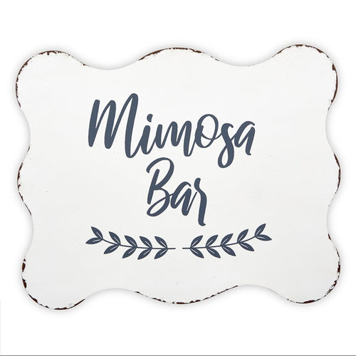Metal Sign - Mimosa Bar