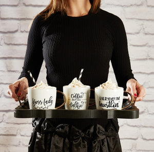 Calligraphy Mugs - Coffee Before Talkie