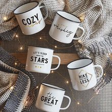 Load image into Gallery viewer, Enamelware Coffee Mug - Let's Sleep Under the Stars