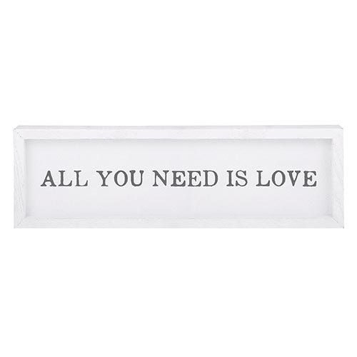 Framed Word Board - All you need is love
