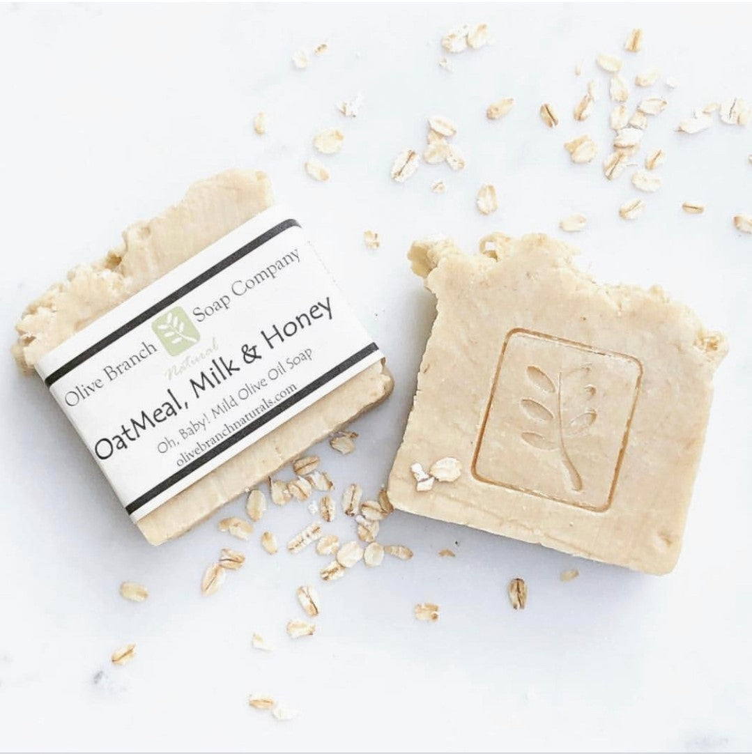 Olive Branch Natural Soap Company - Oatmeal + milk + honey artisan soap bar