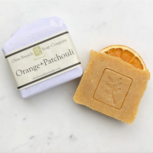 Olive Branch Natural Soap Company - Orange + patchouli artisan soap bar