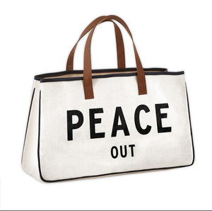 Weekender tote - PEACE OUT
