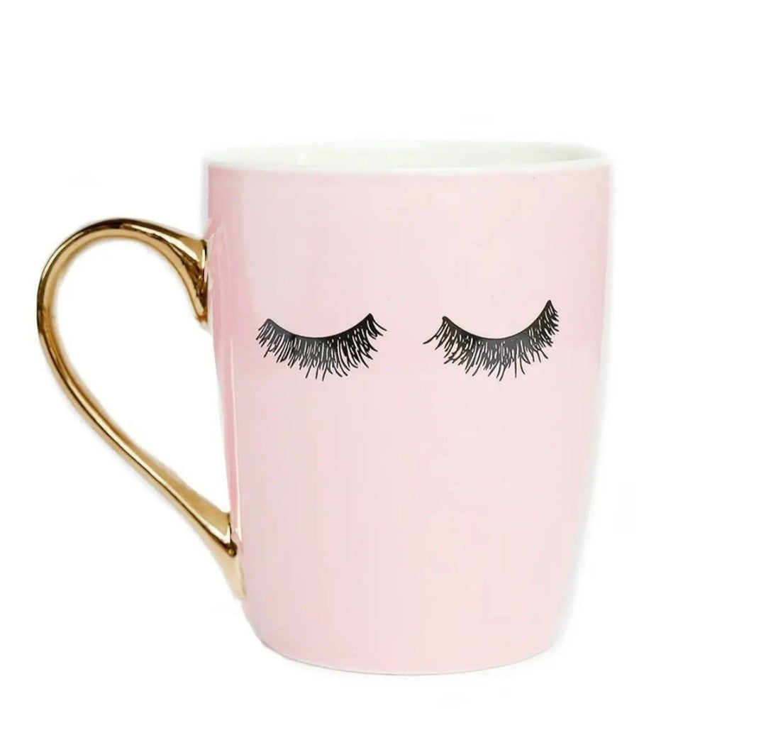 Eyelashes Coffee Mug - Pink
