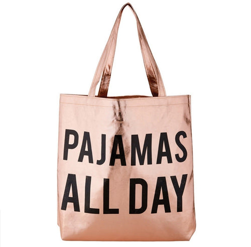 Metallic Tote - Pajamas All Day