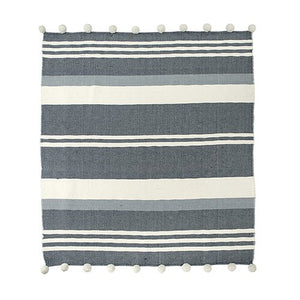 Pom Pom Throw - Striped